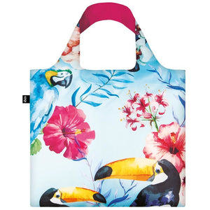 Bird Print Shopping Bag