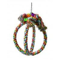 Large Cotton Rope Sphere Parrot Toy