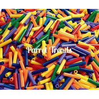 "1"" Straw Bead Skinny (4mm hole)"