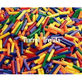 "1"" Straw Bead Skinny (4mm hole) - BULK"