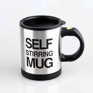coffee cup self stirring mug black