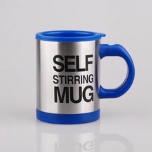 tea &coffee hot self stirring mug blue