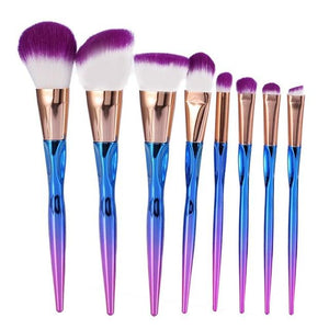 cosmetic brush set professional look 8pcs set multi colour