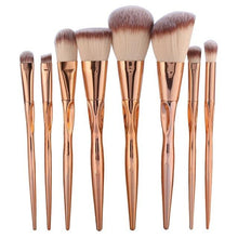 Beautiful set of professinal cosmetic brushes 8pcs set rose gold