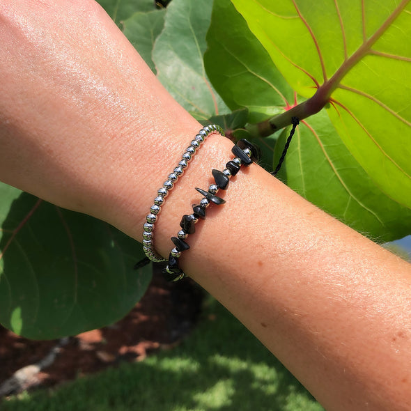 Black Pebble Handmade Bracelet