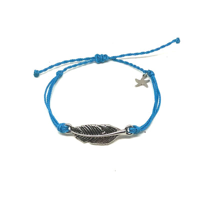 Feather Bracelet in Ocean Blue