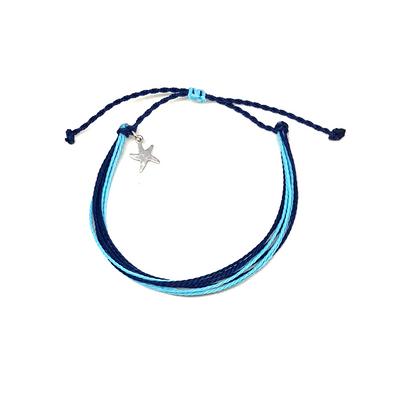 Blue Water Bracelet with Starfish Charm