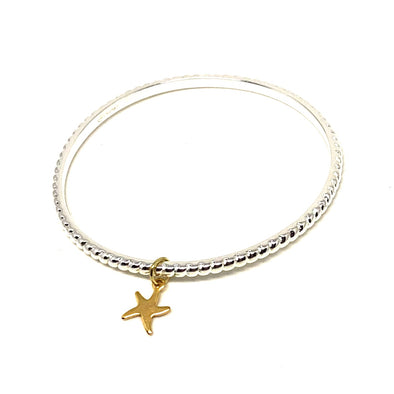 Don't Tie Me Down Rope Bangle with Starfish Charm