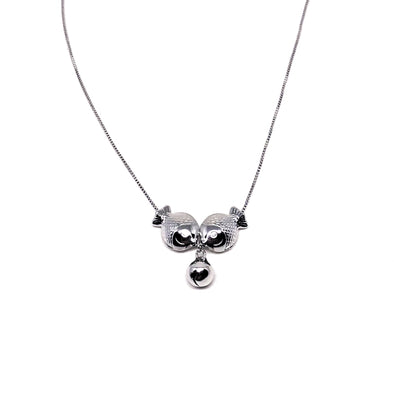Kissing Fish Necklace in Sterling Silver