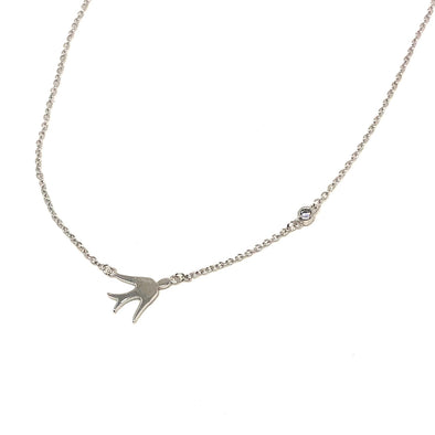 Live Free as a Bird with CZ Accent Necklace