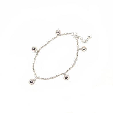 Positivity Ball Charm Bracelet in Sterling Silver