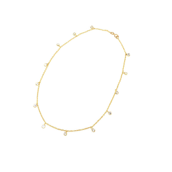 Sparkle Bright Choker Necklace in 14k Gold Over Sterling Silver