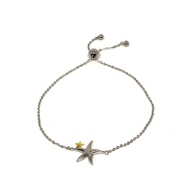 Starfish Bracelet in Sterling Silver Adjustable