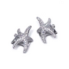 Starfish Cuff Earring Pair in Sterling Silver