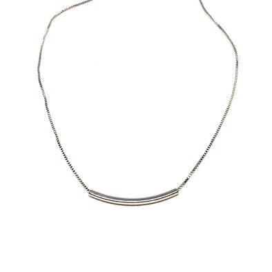 Totally Tubular Necklace in Sterling Silver