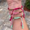 Handmade Woven Bracelets Set of 3 in Sorbet
