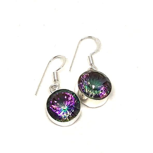 Magical Mystic Topaz Drop Earrings in Sterling Silver