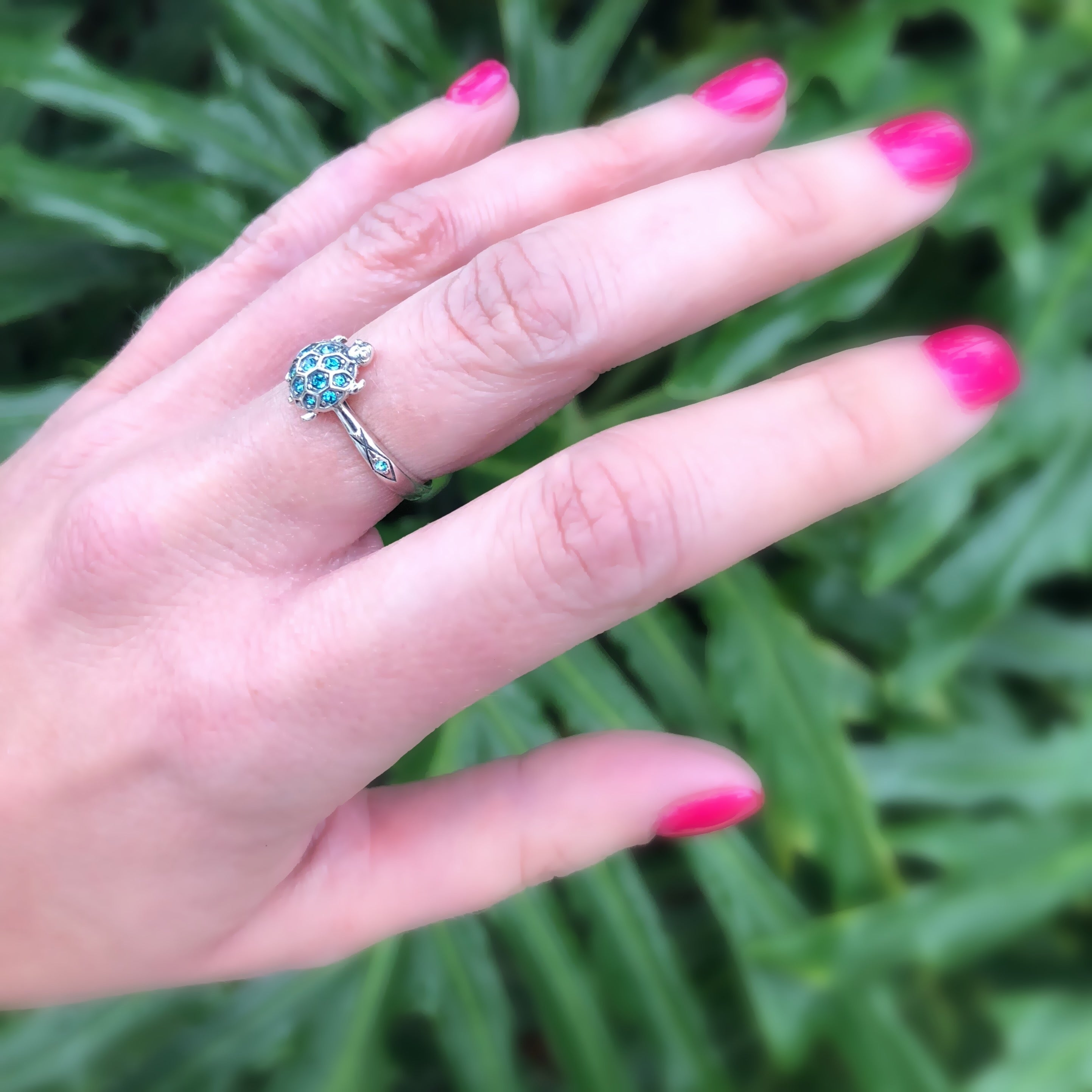 The Turtle Wins the Race Ring in Sterling Silver – Seaside Sparkle