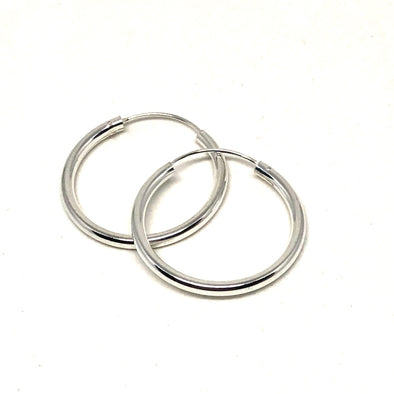 Endless Summer Endless Medium Hoop Earrings in Sterling Silver
