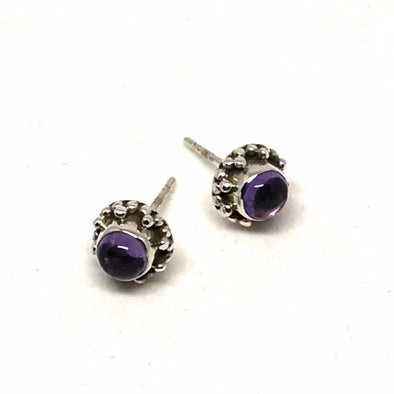Amazing Amethyst Mini Earrings in Sterling Silver