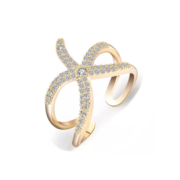 Starfish Ring | Gold | Sparkly