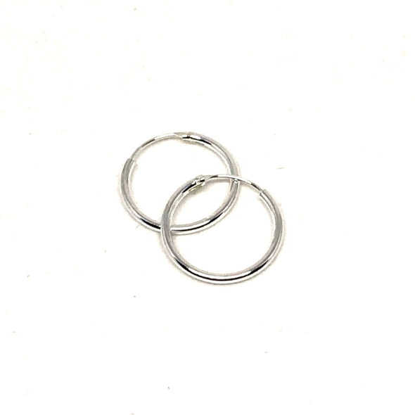 Endless Summer Endless Small Hoop Earrings in Sterling Silver