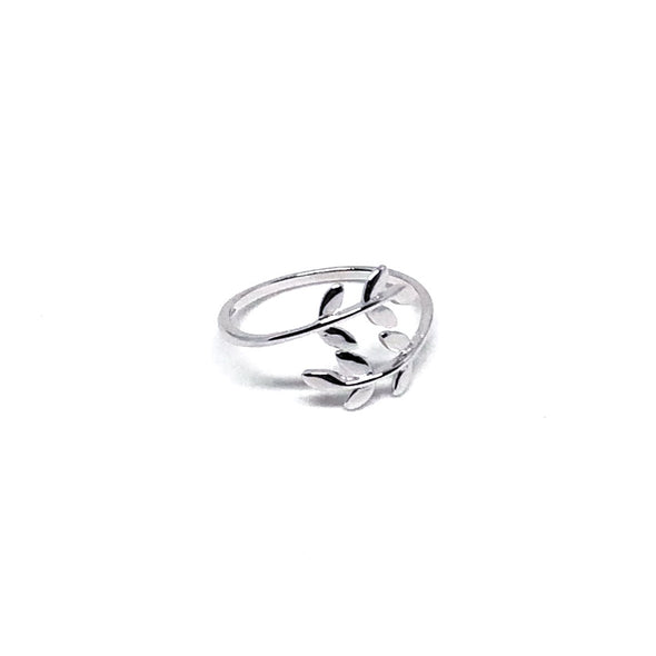 Tropical Foliage Ring in Sterling Silver