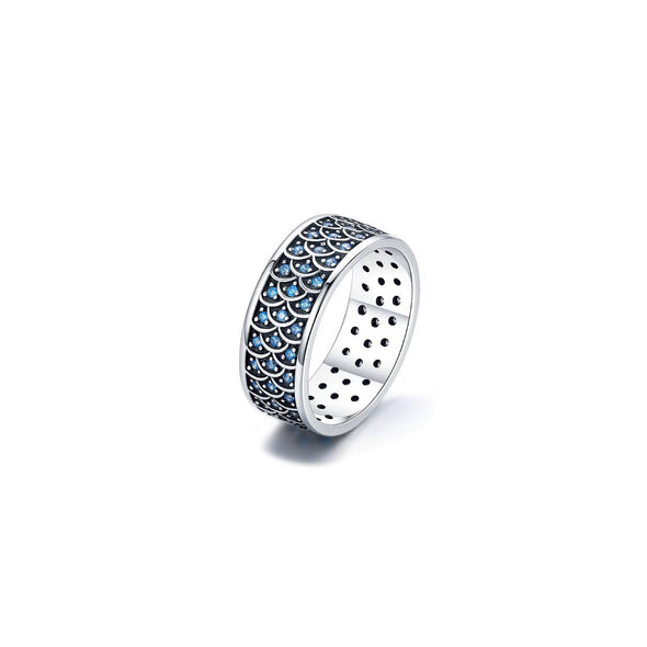 Mermaid Sparkle Ring in Sterling Silver