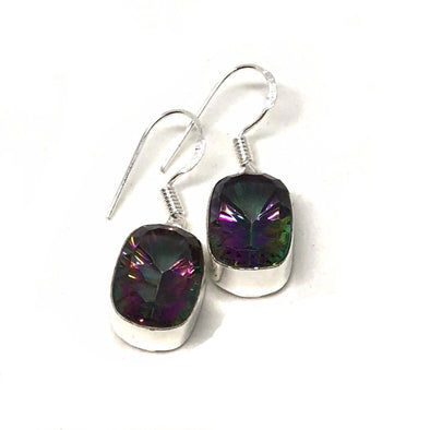 Stunning Sterling Silver Mystic Topaz Drop Earring