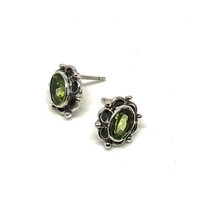 Pretty Little Peridot Earrings in Sterling Silver