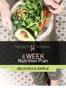 4 Week Nutrition Plan