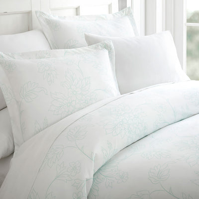 Vines Patterned 3-Piece Duvet Cover Set