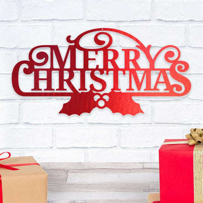 Merry Christmas - Metal Wall Art/Decor