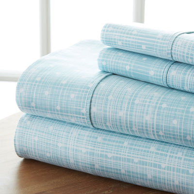 Polkadot Patterned 4-Piece Sheet Set
