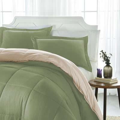 Reversible Down Alternative Comforter & Shams 3-Piece Set