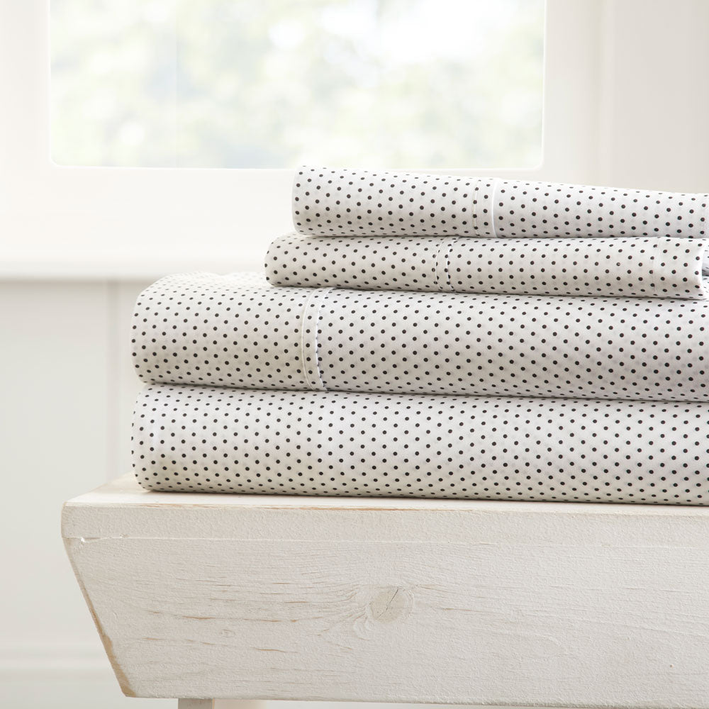 Stippled Patterned 4-Piece Sheet Set