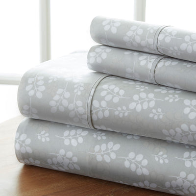 Wheatfield Patterned 4-Piece Sheet Set