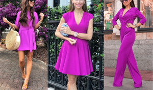 Bright Colors Outfit Ideas Part 4 - Purple and Lavender