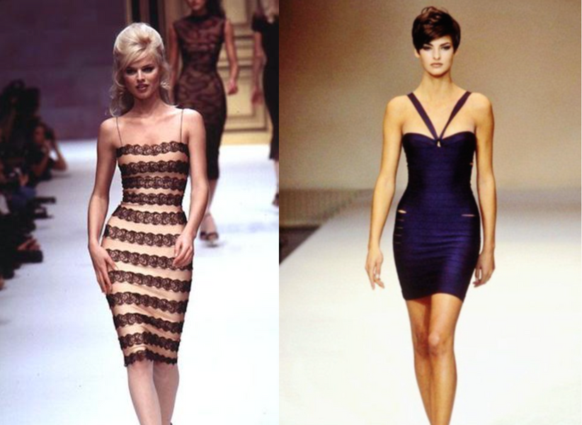 Famous Models of the 90s in Herve Leger