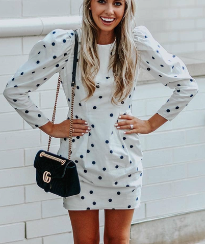 ff369ca48 Another idea is to wear a Gucci Marmont or Dionysus bag with a super trendy  polka dot pattern.