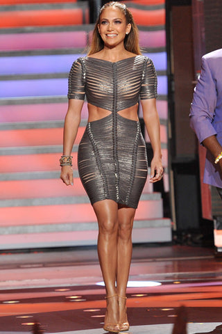 b305a7d533e My favorite look on Jennifer Lopez was coated and the metal inspired Herve  Leger collections. J-Lo looked like ultimate pop star.