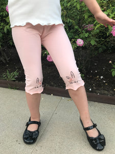 Flaricent Girls Bunny Pink Leggings Pants