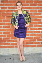 BCBG Max Azria Meredith Purple Floral Appliqué Dress