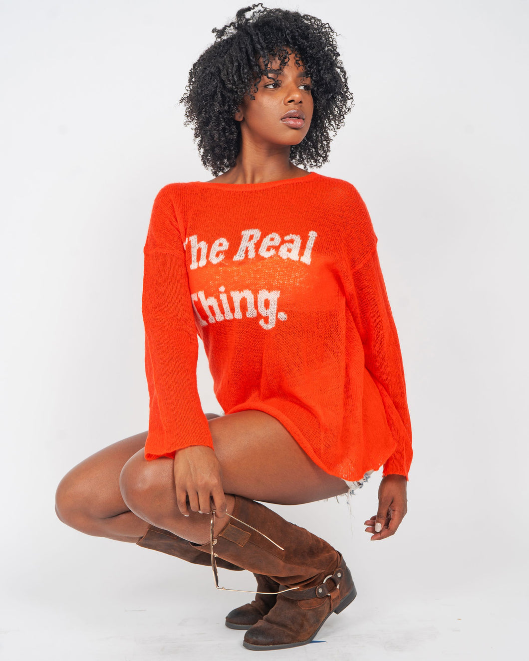 Wildfox Couture White Label The Real Thing Red Wool Blend Sweater
