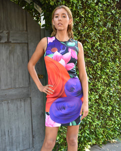 Clover Canyon Lotus Garden Abstract Print Neoprene Dress