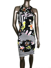 Clover Canyon Floral Discs Black Neoprene Dress