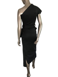 Flaricent One Shoulder Neoprene Cocktail Dress