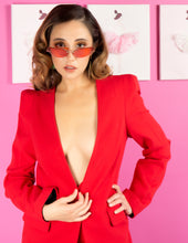 Flaricent clothing red jacket skirt suit