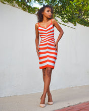 Herve Leger Andreea Gray Orange Saffron Gray Dress