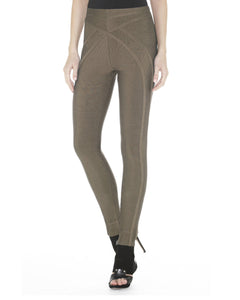 Herve Leger Fiorella Bandage Leggings Pants in Gravel